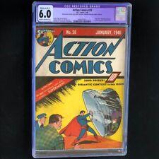 Action Comics #20 (DC 1940) 💥 CGC 6.0 Restored 💥 Ultra-Humanite App! Superman