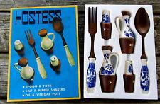 Materia Hostess, Menagerie - Gabel, Löffel, Salz- Pfefferstreuer, Essig, ÖL