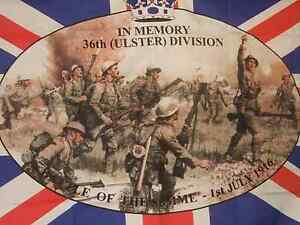 36TH (ULSTER) DIVISION battle of the Somme 5x3 flag union jack united kingdom