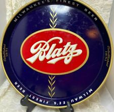 Vintage Blatz Est. 1851 Beer Tray by CANCO-Blue with Red Center-Good
