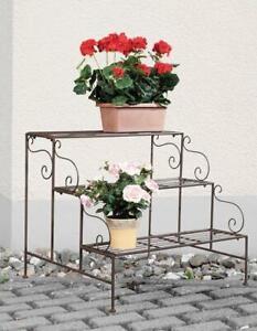 Plants Multilevel Tray, Staircase, Flowers Shelf, Retro Bank