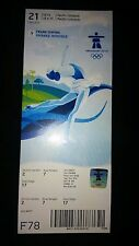 VANCOUVER 2010 WINTER OLYMPIC GAMES - FIGURE SKATING TICKET - ICE DANCE