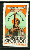 US Stamps 1936 Detroit Expo VF OG NH 1936 Detroit Expo label