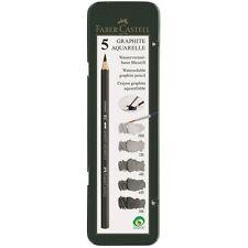 Faber-Castell Watersoluble pencil GRAPHITE AQUAREL Tin 5 8B 6B 4B 2B HB Sketch
