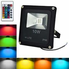 Outside Coloured LED Spot Security Flood Lights 10W RGB Colour Changing Remote