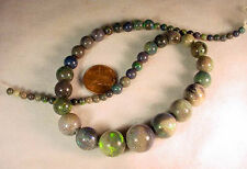 BUTW  Naturally Stunning Strung Andamooka Opal Graduated Beads 4-12 Mm 7803A dl