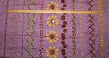 Ami Simms Pizza Party Purple Background Troy Riverwoods Cotton Fabric Quilt BTY