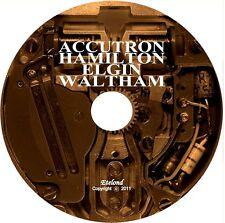 Horology: Accutron Hamilton Elgin Waltham Watch Service Repair Manual & Video CD