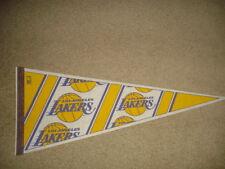 VINTAGE FELT 1990's NBA LOS ANGELES LAKERS LA PENNANT FULL SIZE ~