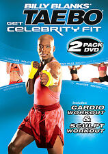 BILLY BLANKS GET CELEBRITY FIT CARDIO SCULPT Tae Bo DVD workout NEW