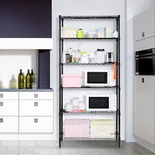 6-Tier Heavy-Duty Large Garage Kitchen Wire Shelving Unit Storage Shelving Rack