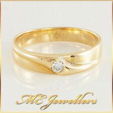 Mens Patterned Gold Diamond Wedding Band Ring 18k 18ct 18kt, Sz T, 5.0G, 4.5mm