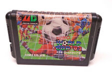 Tecmo World Cup '92 Sega Mega Drive Japan Import Soccer Football Cleaned Tested