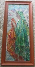 MYSTERY ARTIST PAINTING MADONNA CUBIST CUBISM MODERNISM MID CENTURY MADONNA ICON