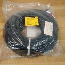 Turck GSDA 30-20M/S1055/S4000 D-Size Power Black PVC Cable TC-ER, 3x10 AWG - NEW