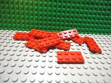Lego 10 Red 2x4 base plate NEW