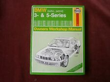 bmw 3 & 5 series workshop manual
