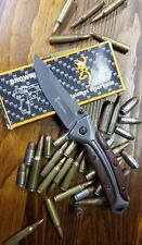 New BROWNING SPRING ASSIST WOOD HANDLE TITANIUM BLADE POCKET KNIFE FAST SHIPPING
