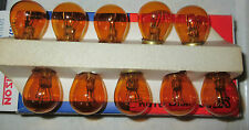 Box of 10 pack - 1157A NEW NOS Morrison Amber Turn Signal Bulb 12V32/3CP 1157NA