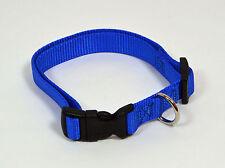"NEW 3/4"" Wide Nylon Dog Collar Blue Size Medium 13""-20"""