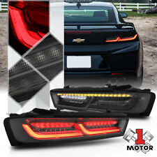 Smoke *TRON LED BAR SEQUENTIAL SIGNAL* Tail Light Lamp for 16-18 Chevy Camaro