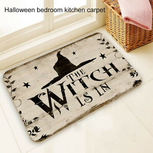 The Witch is in Halloween Carpet Floor Mat Living Room Rug Party Home Decor