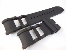 Black 26mm Rubber Watch Strap/Band For Invicta Signature Russian Diver