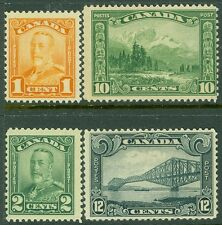 EDW1949SELL : CANADA 1928-29 Scott #149-50, 55-56 Mint Never Hinged Catalog $137
