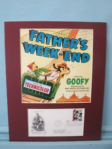 Disney's Goofy & the Roller Coaster & First Day Cover of his own stamp