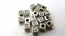 50 pcs 6mm Tibetan Silver Zinc Alloy Metal Square Beads - A0226