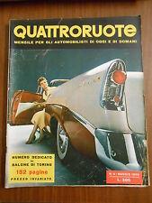 QUATTRORUOTE n.4 MAGGIO 1956 - ORIGINALE - numero dedicato al  salone di TORINO