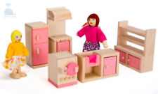 Class Pink Wooden Furniture Dolls House Kitchen Set Miniature No Dolls