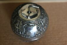Antique Solid Silver Indian Nonentity Apple Tea Caddy Canister Box C 1920