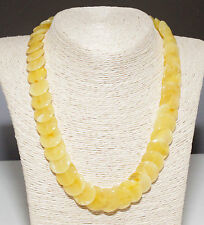 Natural Unique Baltic Amber Adult Necklace 49 cm/19.3 in Butter Genuine Amber
