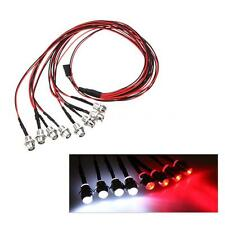 GoolRC 8 LED Upgrade Parts 5mm White Red Color LED Light Set for HSP RC Car C6C9