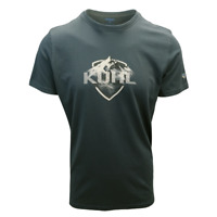 Kuhl Men's Marine Blue Logo Klassik Fit Born In The Wild S/S T-Shirt