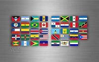 Planche autocollant sticker drapeau pays rangement classement amerique timbre