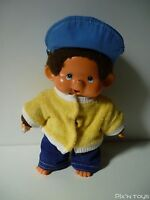 Peluche Kiki Monchhichi Sekiguchi Vintage ( 20cm ) avec tenue / Ajena