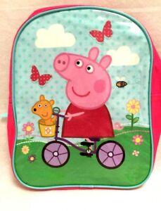"Peppa Pig Kids Girls Preschool Backpack Toddler Small BookBag 11"" Cartoon School"