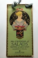 1920s Calendar w/ A Different Salad A Day Nice Art Deco Style Cover