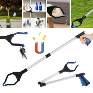 80cm Magnetic Litter Picker Tool Rubbish Pick Up Mobility Foldable Reach Grabber