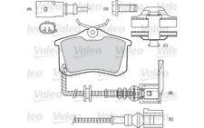 4x VALEO Rear Brake Pads For VOLKSWAGEN GOLF SCIROCCO CORRADO BORA POLO 598180