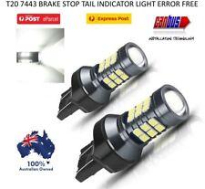 2X T20 7443 7440 WHITE LED BRAKE STOP TAIL LIGHT BULBS GLOBE BRIGHT ERROR FREE