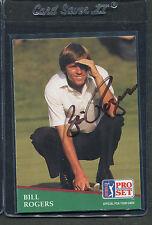 1991 Pro Set Golf Bill Rogers #7 Signed Autograph