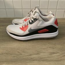 NIKE ZOOM 90 IT WOMEN'S GOLF SHOES WHITE/GREY 844648-100 SZ 8.5 AIR MAX