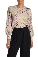 NWOT Womens L Joie Verna Floral Crew Neck Cashmere Blend Sweater in Lilac $298