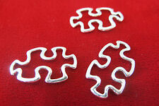 """10pc """"Puzzle"""" connector charms in antique silver style (BC254)"""