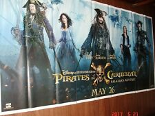 PIRATES OF THE CARIBBEAN DEAD MEN TELL NO TALES GIANT SIX SHEET 52 X 106 POSTER