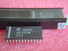 2 pcs IC NATIONAL DM74154N Dekoder/Demultiplexer binär( SN74154N ) DIP24 NEU NOS