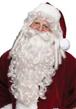 SUPER DELUXE SANTA CLAUS ST NICK WIG AND BEARD CURLY RINGLETS COSTUME FW7528
